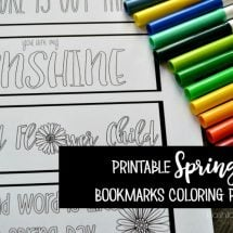 Printable Spring Bookmarks YOU can color!
