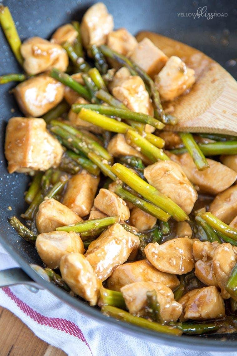 Chicken & Asparagus Stir Fry 6
