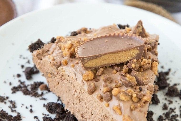 No Bake Reese's Chocolate Cheesecake