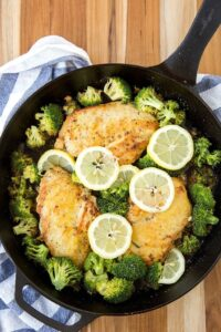 Lemon Chicken And Broccoli Skillet Yellow Bliss Road