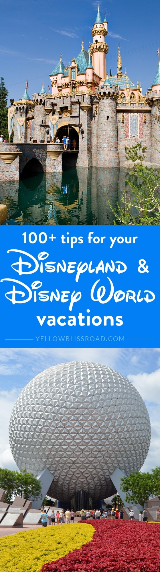 Over 100 Tips to help plan your family's Disneyland or Disney World vacation - from what to where, to what to eat, to how to shop!