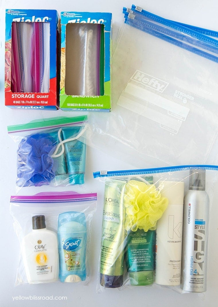 Packing Tip #7 - Pack spillables in Ziploc bags, plus bring extras in your luggage for wet clothing, shell/rock collections and more. Click thru for more great packing tips!