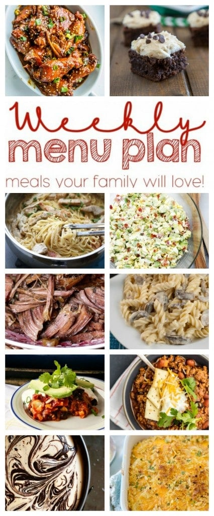 Weekly Meal Plan - 10 great recipes to help you plan your family meals for the week!
