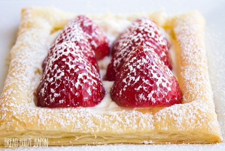 Puff Pastry Cheesecake Fruit Pizza