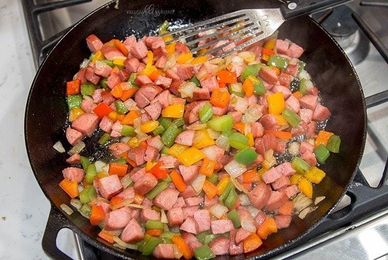 Smoked Sausage Breakfast Casserole 1