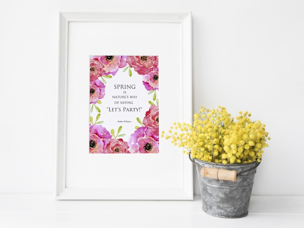 Download your FREE Printable Watercolor Art for Spring
