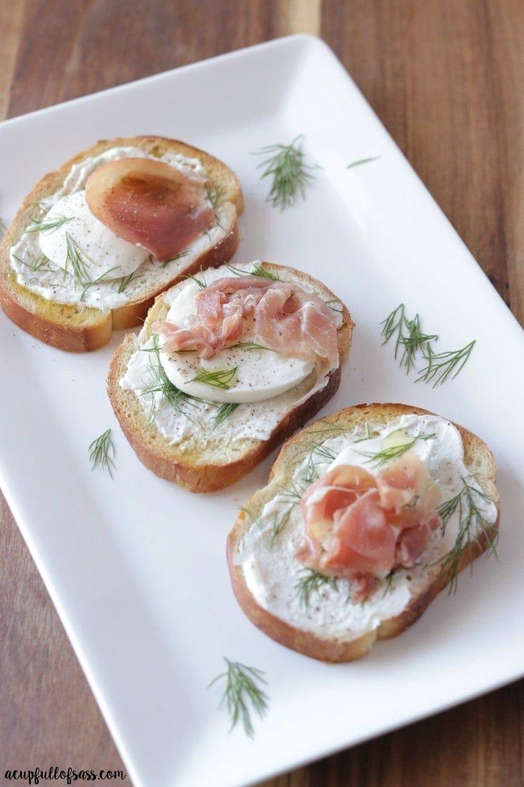 Prosciutto and Mozzarella Bruschetta