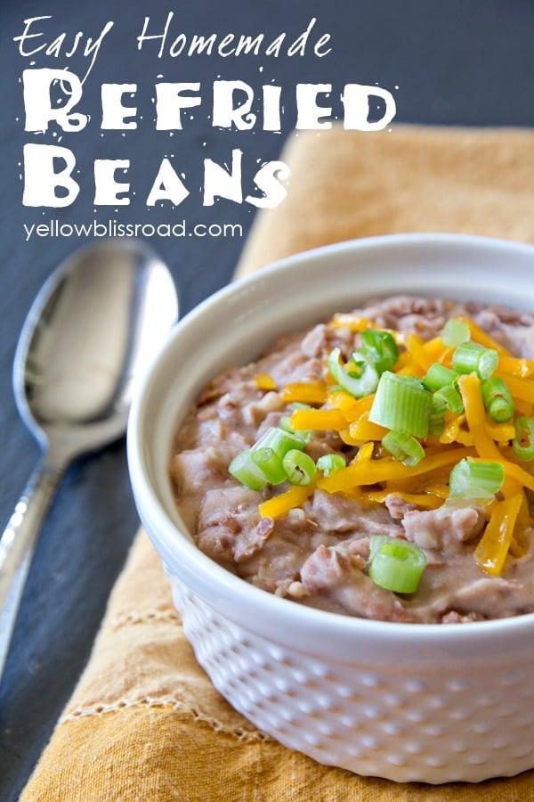 Social media image of refried beans