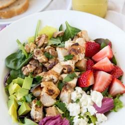 Strawberry & Feta Chicken Salad with Citrus Vinaigrette