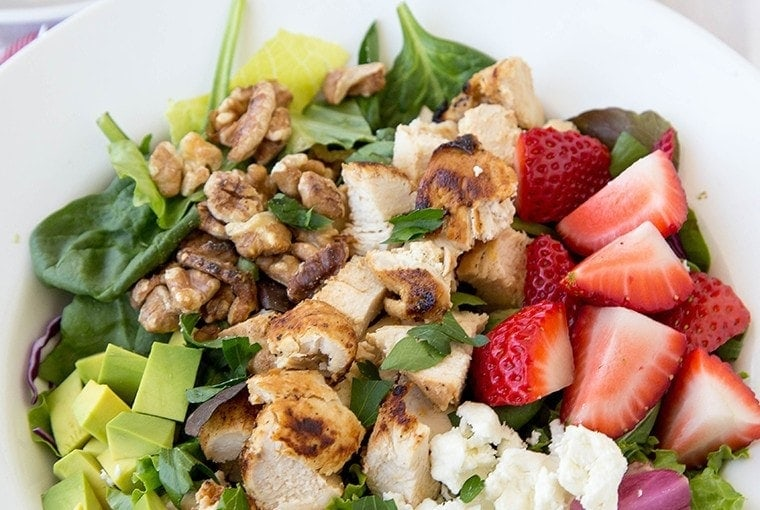 Strawberry & Feta Chicken Salad with Citrus Vinaigrette