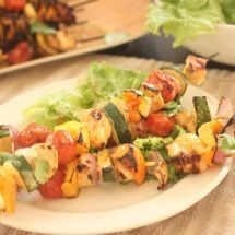 Garlic and Lime Chicken Kabobs - The perfect Summer meal!