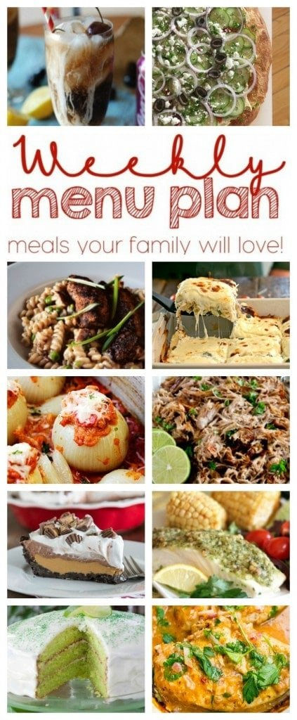 Weekly Meal Plan featuring recipes from ten great food bloggers