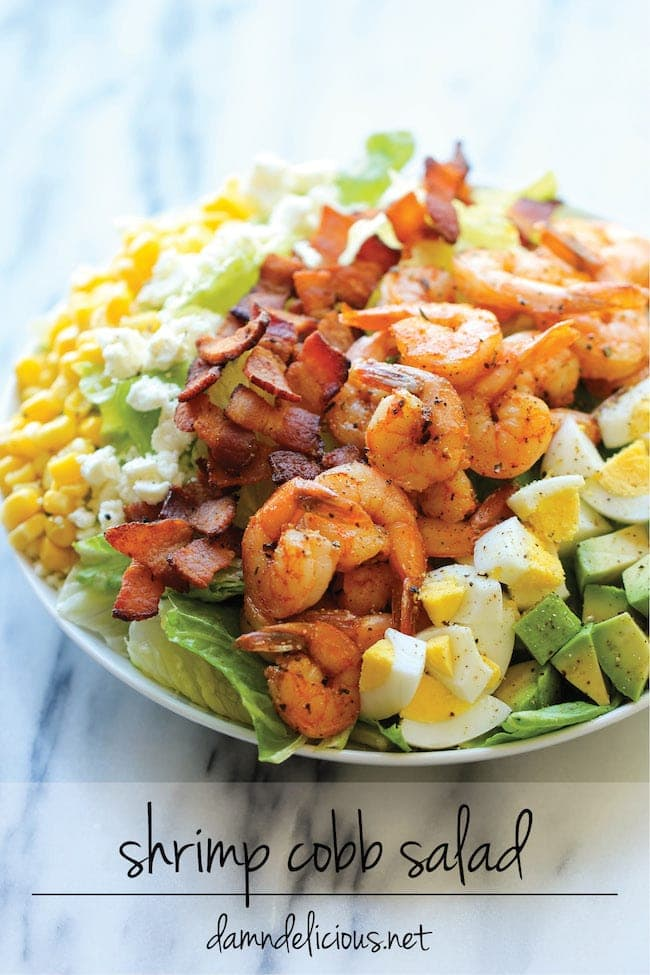 Shrimp Cobb Salad - Damn Delicious