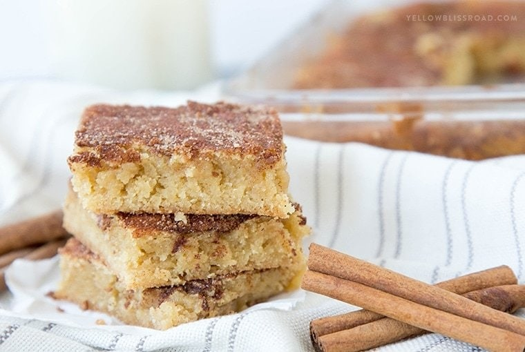A stack of Snickerdoodle bars