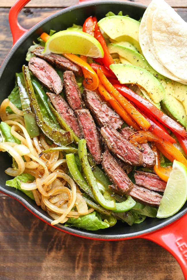 Steak Fajita Salad - Damn Delicious