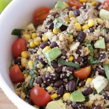A bowl of Beans and Couscous