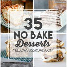 35 No Bake Desserts