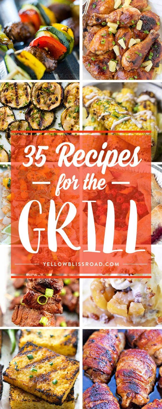 35 Recipes for the Grill - From Backyard Barbecues to Block Parties, these top recipes you can throw on the grill will win the day!