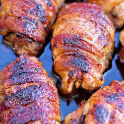 Bacon Wrapped Honey Ginger Chicken