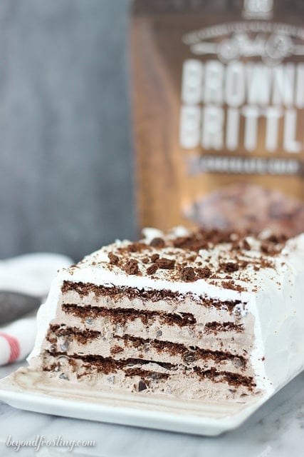 Brownie Brittle Icebox Cake -Beyond Frosting