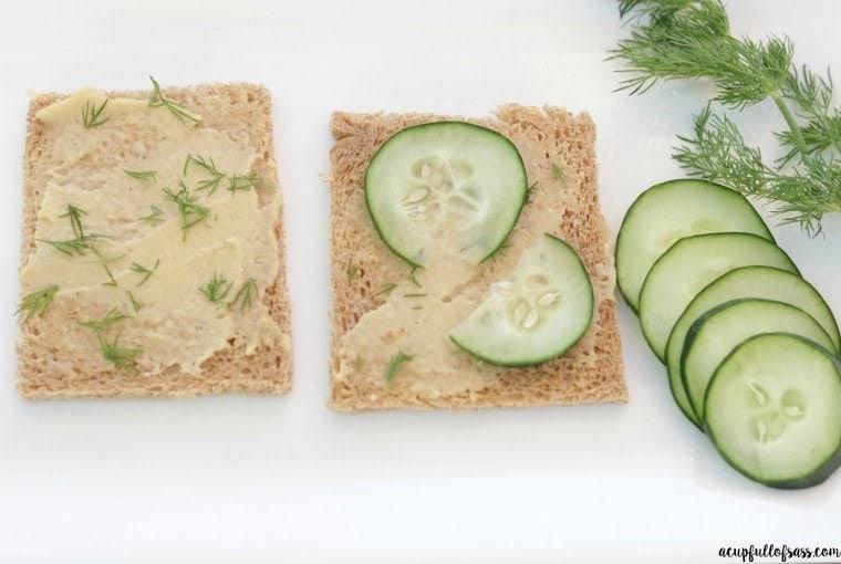 Cucumber Hummus Sandwich