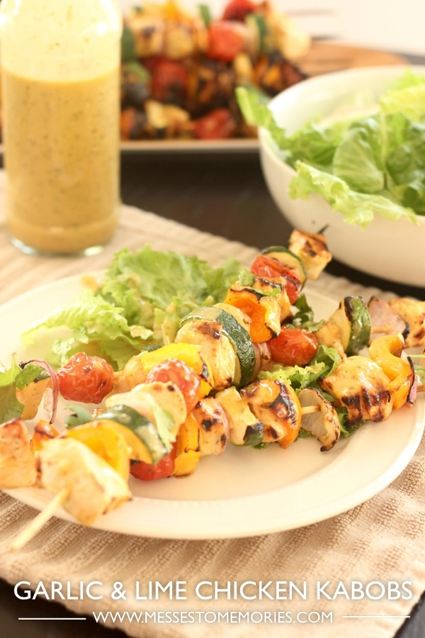 Garlic and Lime Chicken Kabobs