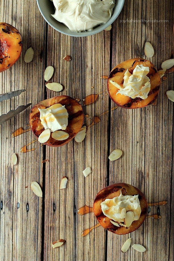 Grilled Peaches with Maple Honey