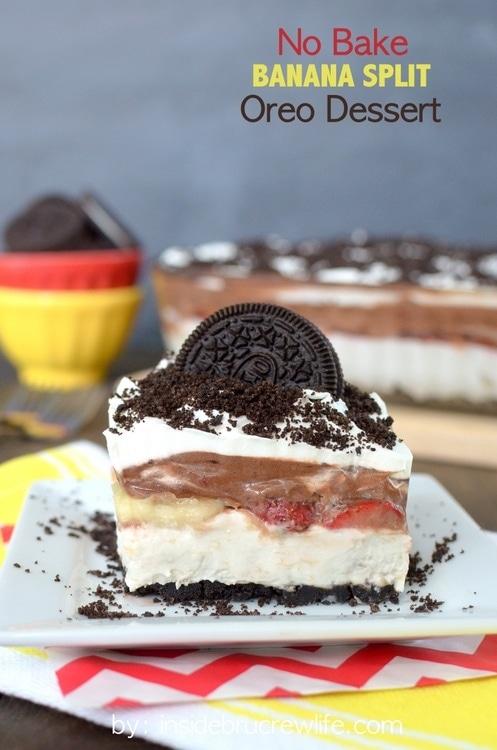 No-Bake-Banana-Split-Oreo-Dessert-Inside Brucrew Life
