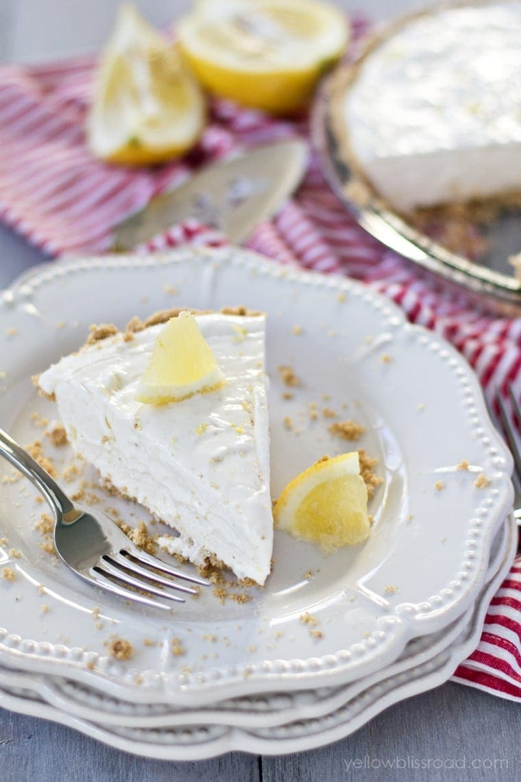 No Bake Lemon Cheesecake - Yellow Bliss Road