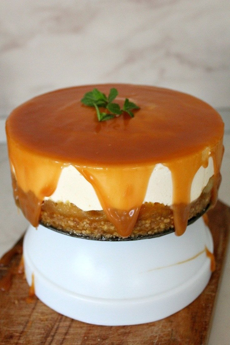 No-bake-Orange Apple Cheesecake - The Seaman Mom