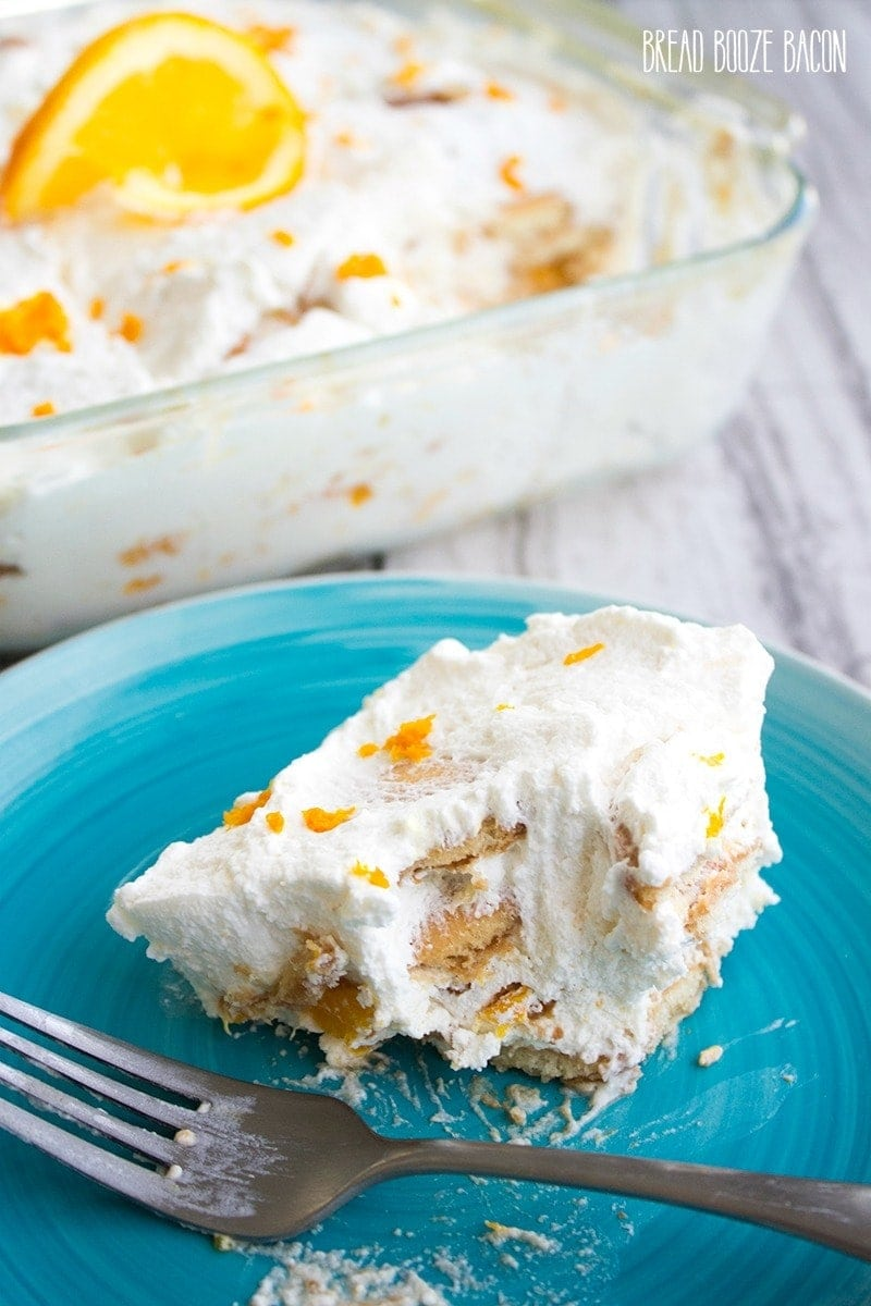 This Orange Creamsicle Icebox Cake taste just like your favorite creamy, dreamy popsicle!