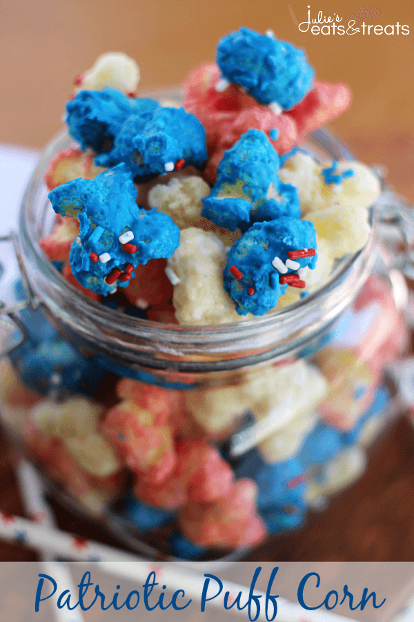 Patriotic Puff Corn