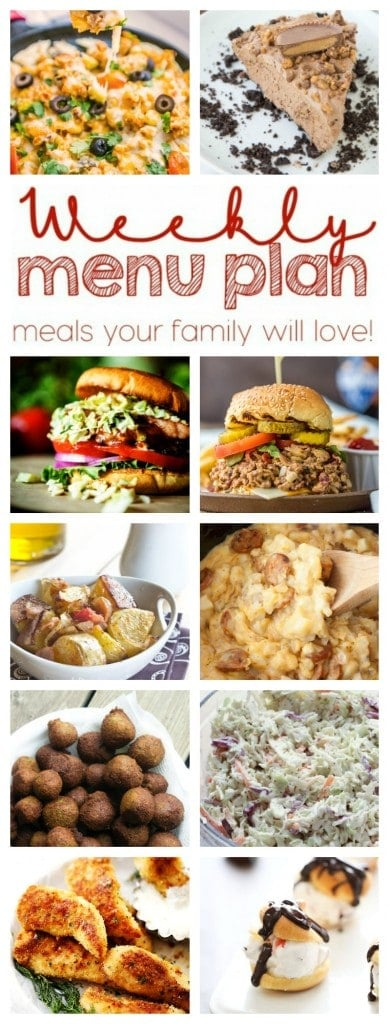 Weekly Meal Plan #15 - Dinners, sides and desserts form 10 great bloggers!