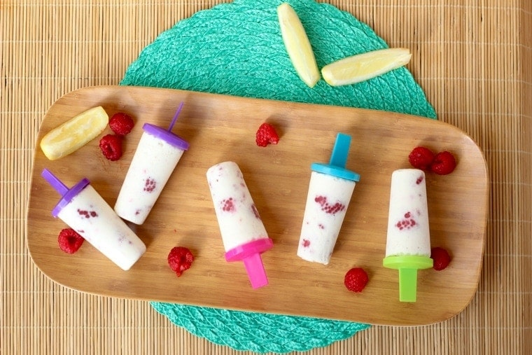 Raspberry Lemonade Popsicles - A refreshing treat!