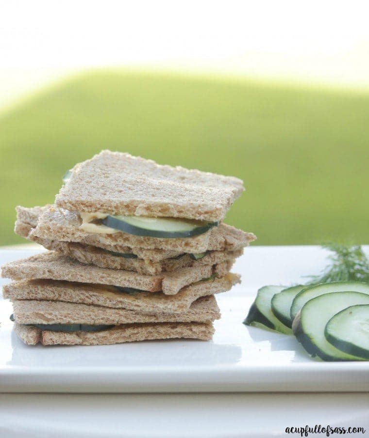 Cucumber and Hummus Sandwiches - a light and fresh spring or summer lunch
