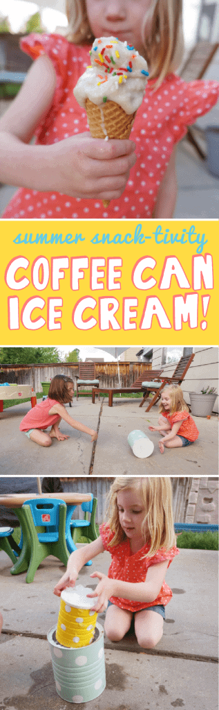 Coffee Can Ice Cream - A summer snack-tivity to do with your kids!