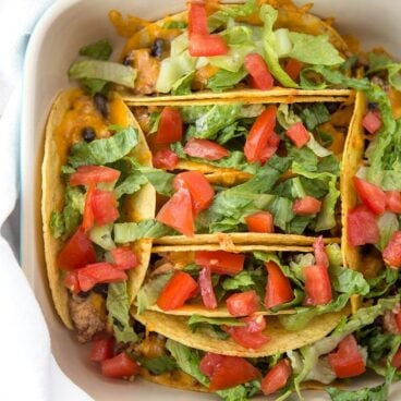 A dish of tacos