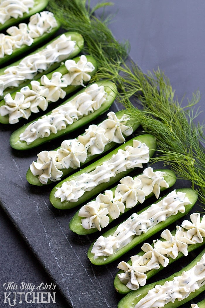 Dill-Cream-Cheese-Cucumber-Boats-from-This-Silly-Girls-Kitchen
