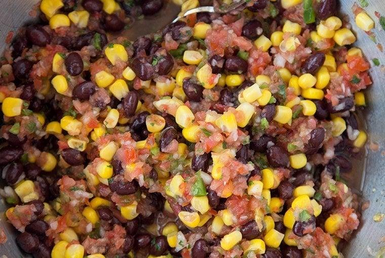 Easy Fresh Salsa with Corn & Black Beans