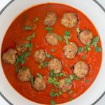 A bowl of Meatballs and Marinara sauce