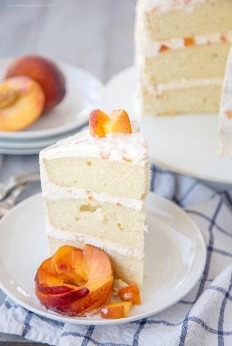 Vanilla Peach Layer Cake
