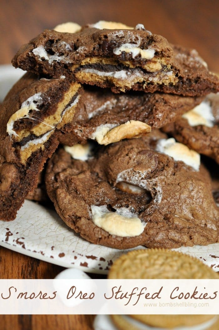 S'mores Oreo Stuffed Cookies