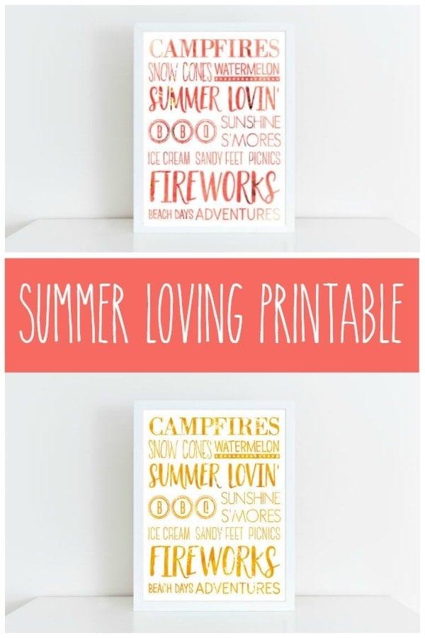 Summer Loving Printable