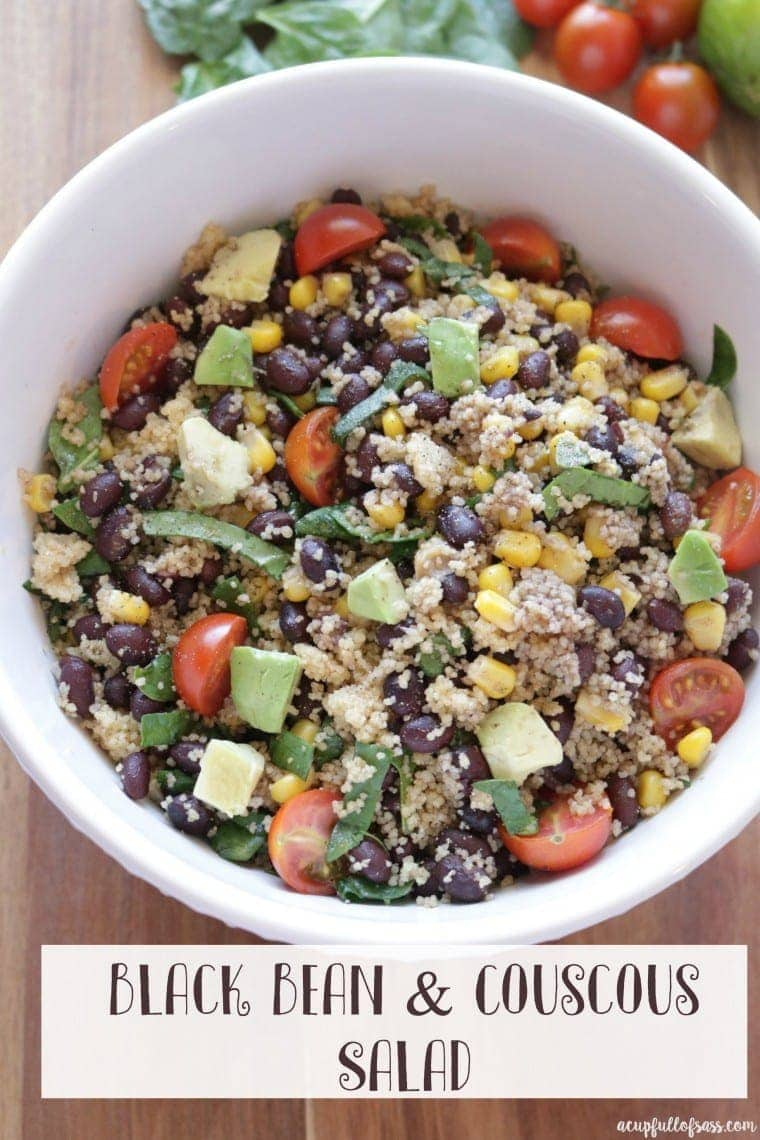 black bean and couscous salad - YBR