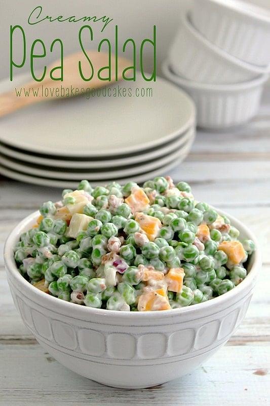 creamy pea salad - love bakes good cakes