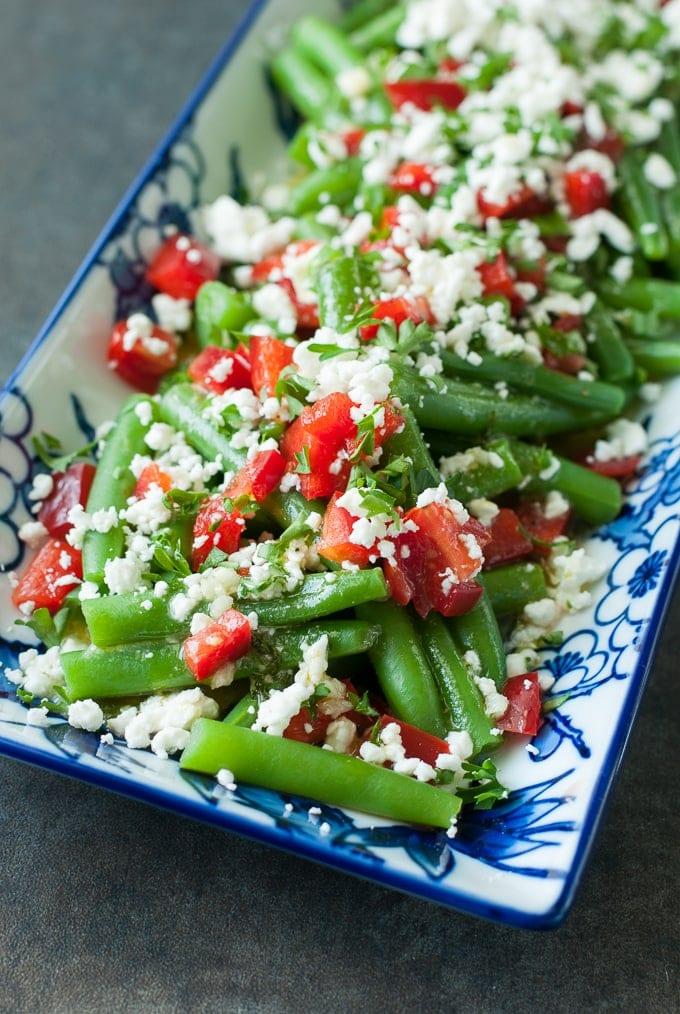 greek-green-bean-salad-peas and crayons