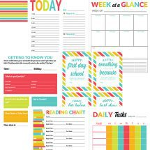 School Year Organizer & Planner Printable Pack