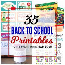 35 Back to School Printables
