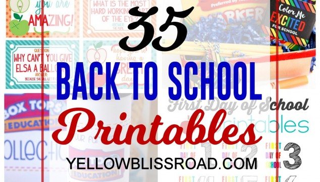 35 Back to School Printables