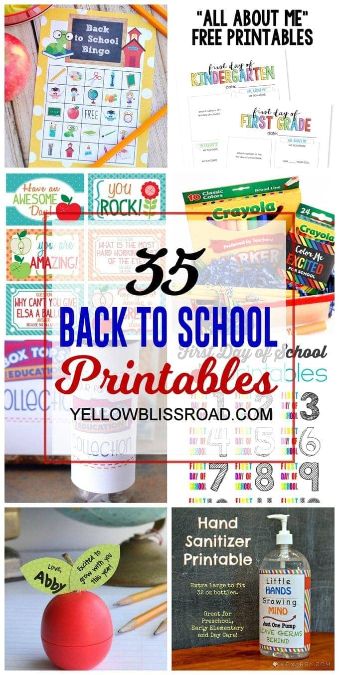 photograph about Printable Chill Pill Label known as 35 Back again toward Faculty Printables - Yellow Bliss Highway